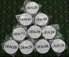 Lot of 10 Dealer Pucks Casino Quality Dealer Buttons White 2 Inches