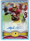 2012 Topps Chrome ALFRED MORRIS Blue Wave Rookie Auto Refractor SSP RC