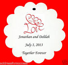 24 Personalized Love Hearts Wedding Favor Scalloped Tags Party Favors