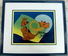 Scooby Doo Hanna Barbera Signed CEL SCRAPPY FLIPS FOR SCOOBY