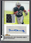 2009 Topps Finest Refractor Autograph 2 Color Patch Darrius Heyward-Bey RC 32 50
