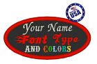 Oval 2x4 Custom Embroidered Name Tag Sew Or Iron On Patch Embroidery Patches