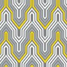NEW! Design Studio Collection- Yellow/Gray Fretwork Cotton Fabric BytheYd 44