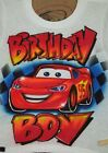 Lightning mcqueen cars birthday Airbrush T Shirt Any Name Any Colors