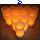 BRAND NEW 24 Rechargeable LED Tea Light Candles Flameless  Environmental