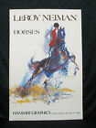 Leroy Neiman Signed Horses Equestrian Lithograph JSA H39679