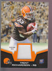 2012 Topps Player-Worn Patch Brown Jersey Patch Trent Richardson RC Alabama