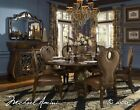 The Sovereign Traditional Luxury 5 Piece Round Formal Dining Room Table Set Aico