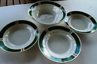 Lot of  4 Majesty China Malachite - 1 Vegetable Bowl - 3  Soup Salad Bowls