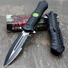 ZOMBIE HUNTER Assisted Opening Knives BLACK Survival Gear Tactical Hunting Knife