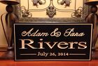 Personalized Sign Anniversary Plaque Established Wedding Engraved Family Gift