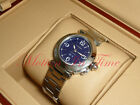 Cartier Pasha C 35mm Stainless Steel Double Date Window Blue Dial Ref: W31047M7