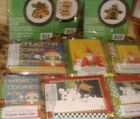 Mary Engelbreit note cards or cross stitch or memo pad & pen santa dog snowman