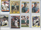 LOT OF 11 BARRY BONDS BASEBALL CARDS 1987 TOPPS#320 ROOKIE,1988 TOPPS#450,FLEER