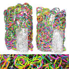 1200 TIE DYE Rainbow Color loom refill rubber bands With S Clips new