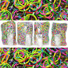 NEW Rainbow Tie Dye Bracelet Loom 2400 Rubber Bands with 25 Clips
