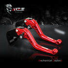 Red Short Brake Clutch Levers For Suzuki GSX650F 08-2012 HAYABUSA/GSXR1300 99-07