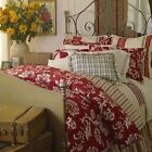 Chaps by Ralph Lauren FRENCH RIVIERA Comforter Set 4 Pcs. Full Size Red NWOP