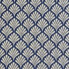 B654 Navy Blue, Fan Woven Jacquard Upholstery Fabric By The Yard