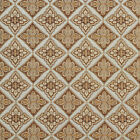 A0012A Light Blue Gold Brown Ivory Diamond Brocade Upholstery Fabric By The Yard