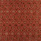 A0012G Red Brown Gold Ivory Diamond Brocade Upholstery Fabric By The Yard