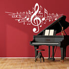 Musical Notes with Treble Clef Wall Decal home decor music sticker art BD472