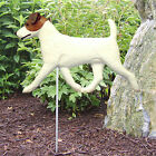 Jack Russell Terrier Outdoor Garden Dog Sign Hand Painted Figure Brown White