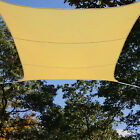 Yard Cover Sun Sail Shade Awning Sand Beige Waterproof Polyester 165 Ft Square