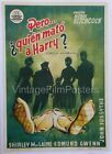 THE TROUBLE WITH HARRY orig Spanish 1 Sheet ALFRED HITCHCOCK Unique GRAPHICS