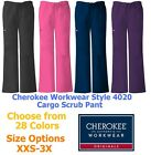 Cherokee Workwear 4020 Womens Cargo Scrub Pant Pick Size  Color Free Shipping