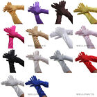 Long Satin Stretch Gloves for Evening Party Wedding Bridal Formal Prom 14 Colors