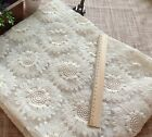 05yard 39ft sunflower embroidery lace fabric wedding fabric Organza lace