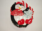 Fitz and Floyd Cool Christmas  Vintage Canape Plate