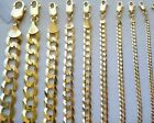 15MM 11MM 14K SOLID YELLOW GOLD CUBAN LINK WOMEN MENS NECKLACE CHAIN 16 30