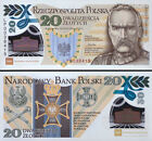 ╠═╣ Poland 20 zl P-New 2014 100th Polish Legions POLYMER Piłsudski in Folder ╠═╣