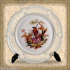 VINTAGE SCHWARZENHAMMER BAVARIA GERMANY RETICULATED PLATE ROMANNTIC SCENE #1