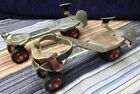 Vintage Sears Roebuck and Co. Roller Skates 610-2-341 red wheels / adjustable