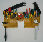 Double Leather Pouch Tool Belt Holder Electrician Construction Carpenter