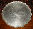 ANTIQUE BEAUTIFUL ALUMINUM HAND WROUGHT SERVING DECORATIVE TRAY W DEER STAG