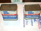 LOT OF 2  VINTAGE SPICE TIN CAN   McCORMICK  CREAM OF TARTER AND CURRY POWDER
