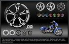 PM Luxe Platinum Cut Motorcycle Wheels front/rear for Hayabusa Busa with rotors