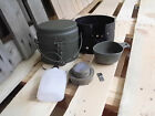 Swedish military Trangia mess kit, mess tin, stove, cup and tin-opener