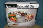 Prodyne Appetizers On Ice Large Revolving Relish Fruit Server With Lids AB-5-L