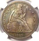 1846-O Seated Liberty Silver Dollar $1 - NGC AU Details - Rare Date Coin!