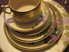 Japanese Satsuma handpainted wisteria 60 dishes:1920s originals +later porcelain