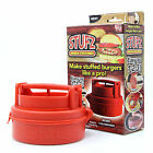 New Hot Fashion Stufz Stuffed Burger Press Hamburger Grill BBQ Patty Maker Juicy