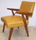 Mid Century Danish Modern Upholstered Sculptural Arm Chair Occasional Lounge #2