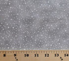 Cotton White Silver Circles Dots Gray Cotton Fabric Print by the Yard D776.36