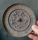 Collectables! Dynasty Old Chinese Bronze mirror Statue 12cm