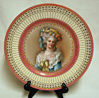 Rare French Limoges Porcelain Portrait Cabinet Plate Princess de Lamballe SIGNED